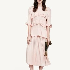 WhoWhatWear Light Pink Ruffle Top